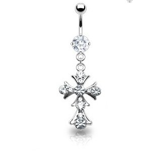 Paved Vintage Cross Dangle