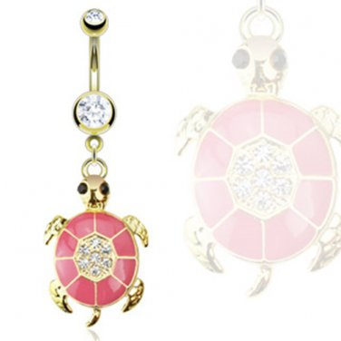 Gold Plated Turtle Navel Ring