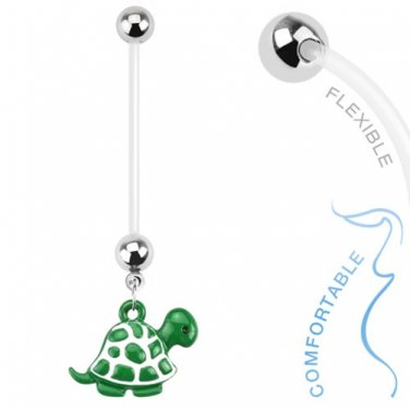 Green Turtle Pregnancy Belly Ring