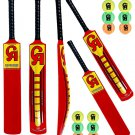 CRICKET soft ball BAT CA NJ-5000 Fiber Composite tennis ball bat with pack of 12 Balls