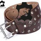 Leather belt with rivets, Leather Double Hole Grommets Belt, KILT BELT, Gothic belt 48 inches Waist