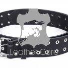 Leather belt with rivets, Leather Double Hole Grommets Belt, KILT BELT, Gothic belt 34 inches Waist