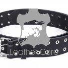 Leather belt with rivets, Leather Double Hole Grommets Belt, KILT BELT, Gothic belt 44 inches Waist
