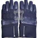 Handmade Genuine LEATHER GLOVES - Motorbike - Motorcycle - Winter Unisex Gloves Size XS