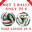 Sale Buy 2 ADIDAS BRAZUCA & BRAZUCA FINAL RIO FOOTBALL WORLD CUP 2014 SOCCER MATCH BALL 5