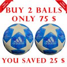 Sale Buy 2 ADIDAS UEFA CHAMPIONS LEAGUE 2018-19 SOCCER MATCH BALL BLUE COLOUR SIZE 5