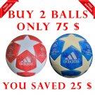 Sale Buy 2 ADIDAS UEFA CHAMPIONS LEAGUE 2018-19 SOCCER MATCH BALL BLUE & RED COLOUR SIZE 5