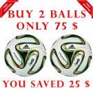 Sale Buy 2 ADIDAS BRAZUCA FINAL RIO FOOTBALL WORLD CUP 2014 SOCCER MATCH BALL 5