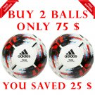 Sale Buy 2 Adidas Football Soccer Team Match Ball Quality Pro Size 5 White Black Red