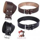Premium Handmade Leather KILT BELT, Trinity Knot Embossed, Belt Double Prong Belt