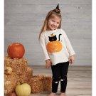 Mud Pie Girls Halloween Cat Tunic And Legging Set 3T
