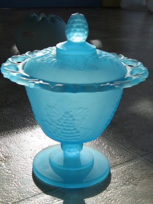 Indiana Glass Spooner with Lid