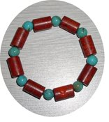 NATURAL TURQUOISE & CORAL BRACELET TCB325