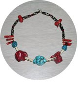 NATURAL TURQUOISE & CORAL NECKLACE TCN37056