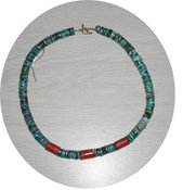 NATURAL TURQUOISE & CORAL NECKLACE TCN57056