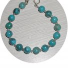 ROUND TURQUOISE & STERLING BRACELET TB335