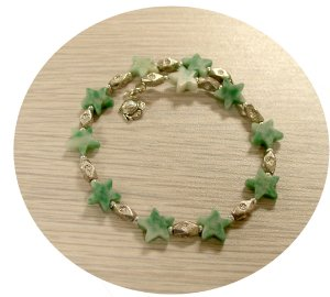 STAR SHAPPED GREEN TURQUOISE MEMORY WIRE BRACELET TB125