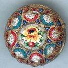 Vintage Italian Mosaic Round Brooch