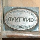 Vintage Oakland GM Printers Block