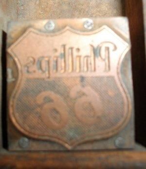 Vintage Philips 66 Printers Block