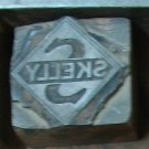 SOLD Vintage Skelly Gas Printers BLock