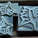 Vintage Jesters Hands Printers BLock