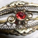 Vintage gold filigree brooch late 1800's
