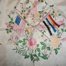 vintage silk scarff Chinese American Flags