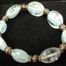 Vintage Blue & White Indian Glass bead bracelet