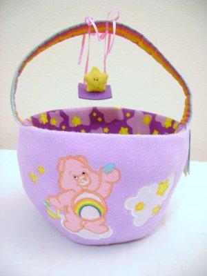 Round Plush Care Bear  Basket