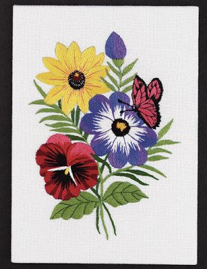 Floral Embroidery embroidery kit
