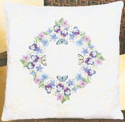 Floral Fantasy Pillow Candlewicking Embroidery Kit