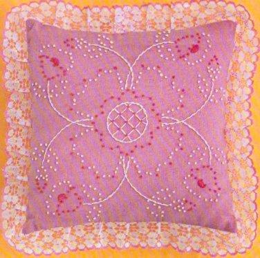 Rose Parfail Pillow candlewicking kit