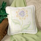 Textured Floral Pillow crewel kit
