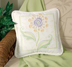 Textured Floral Pillow crewel kit