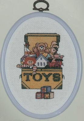 The Toy Box cross stitch kit (includes frame)