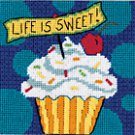 Life is Sweet mini needlepoint kit (floss)