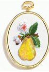 Pear embroidery kit (floss)