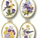 Wildflowers & Finches Embroidery Kit (floss)(set of 4)