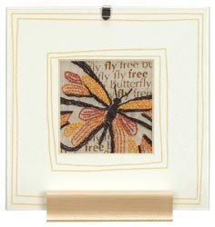 Simple Embroidery Fly Free Embroidery Kit (floss)(includes frame)