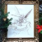 Baroque Angel embroidery kit (floss)