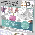 How to draw animal characters Art tutorials , eBooks By mitch leeuwe Complete Bundle