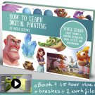 How to learn digital painting Art tutorials , eBooks By mitch leeuwe Complete Bundle