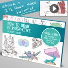 How to draw in perspective Art tutorials , eBooks By mitch leeuwe Complete Bundle