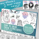 How to draw Facial expressions Art tutorials , eBooks By mitch leeuwe Complete Bundle