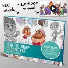 How to draw characters Art tutorials , eBooks By mitch leeuwe Complete Bundle
