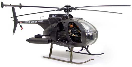 "BBi Elite Force 1:18 Scale ""Night Stalker"" MH-6 Little Bird Helicopter"