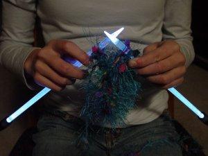 NeedleLite Lighted Knitting Needles, US Size 10 1/2 Short, 1 Pair
