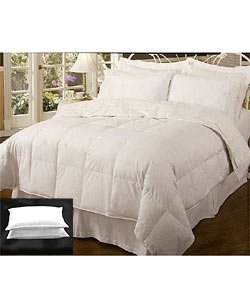 Chalet 240 TC White Feather & Down Comforter set