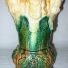 ANTIQUE MAJOLICA URN VASE CHERUB DESIGNS  1880'S